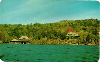 Vintage Postcard - Water and Camps Albedor Lodge Fourth Lake NEW YORK NY #3853