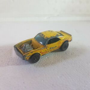 Vintage Hot Wheels Redline yellow enamel heavy chevy camaro loose