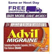 Advil Migraine 200 mg Liquid Filled Capsules 80 Count Original Version Exp 03/23