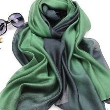 Fashion Women's Lady 100%  Mulberry Silk Cotton Long Scarf Wrap Shawl