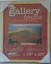 """New Deluxe Art/Picture Gallery Wood Frame 1-1/2"""" Deep - Natural 16"""" x 20""""."""