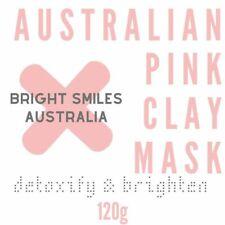 Australian Pink Clay Mask Detoxify & Brighten Skin By Bright Smiles Australia