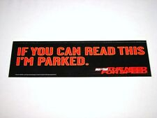 The Need For Speed EA Games / Road & Track 1996 Video Game Promo Bumper Sticker