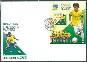 SOLOMON ISLANDS BRAZILIAN FOOTBALL SOCCER PLAYERS S/S NEYMAR AS SHOWN FDC