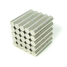 "500pcs 5/16"" x 5/64"" Disc 8x2mm Neodymium Magnets Refrigerator Permanent N35"