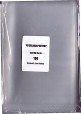 100 Clear Plastic Sleeve/Wallet for Postcard storage Exterior size 6 x 4 ins