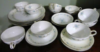 VINTAGE GLAMOUR by HIRA CHINA JAPAN 19 PIECE DINNER SET PLATE CUP SAUCER