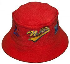 New! Negro League Baseball Logo Bucket Hat Embroidered Fishing Cap - Red