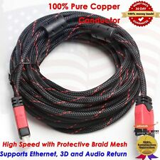 Premium Serie HDMI Cable 25FT w/Nylon Protective Braid,Support Ethernet,3D,Audio