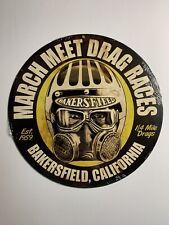 NHRA March Meet Drag Races Est. 1959 Bakersfield, CA 1/4 Mile Drags Metal Sign