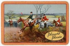 Playing Cards 1 Swap Card - Old PLAYERS PLEASE Cigarettes Smoking HORSE RACING