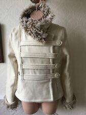 Womens Firetrap Cream Wool Short Coat Jacket Size 8