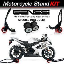 Pro Bike Stand Kit Front & Rear Lift Spool Package for Suzuki GSXR1000 2001-2016