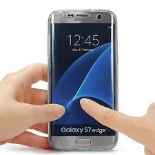 COVER Fronte Retro Protezione 360° per Samsung S7 EDGE TPU Morbida Trasparente