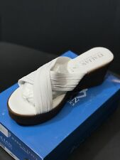 New Italian Shoemakers Platform Women's Leather White Color Sandals Size US 11 M