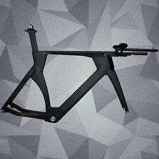 Size 51/54/57CM Matt BB86 Aero Design Time Trial TT Bike Carbon Frameset