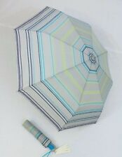 ESPRIT gestreifter Damen  Regenschirm  Automatik Taschenschirm grau 50882