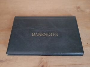 Banknote Album - Gold Blocking - Holds 20 Banknotes - Green, Red, Blue