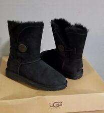Australia UGG Womens Bailey Button Boots Black Sz-6
