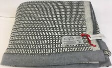 Scarlet & Argent Leno Thermal Weave Slate/White Queen Size, Made in England