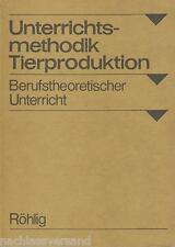 Röhlig TIERPRODUKTION Landwirtschaft Tierzüchter LPG Berufe Theorie Lehrbuch DDR
