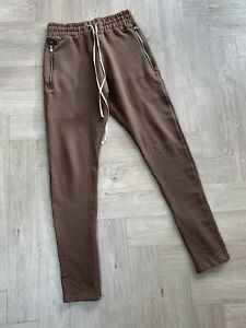 REPRESENT brown jersey pants with ankle zips, Size S, excellent condn