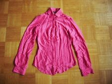 @ Miss Sixty @ tolle Bluse langarm pink neon Seide Size S Gr. 36 UK 10 US 8