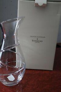 "Waterford Crystal ""Aura"" Wine Carafe by Jasper Conran Pristine + Box 10.1/2"""