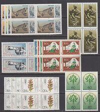 GERMANY, BERLIN STAMPS #9N406//9NB219 -- (6) SETS, BLOCKS 4 --  1965 -- MINT