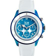 Mens Wristwatch ICE WATCH DUNE IC.014224 Chrono Silicone White Blue XL Sub 100mt