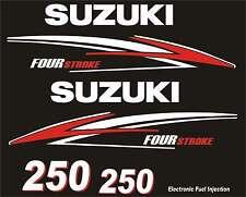 Adesivi motore marino fuoribordo Suzuki 250hp four stroke