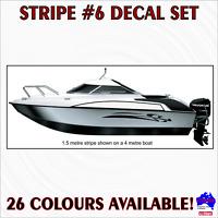 1m Stripe #6 DIY decal sticker set.Fishing boat,half cabin,tinny marine striping