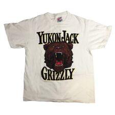 Vintage Yukon Jack Grizzley T-shirt 90's Single Stitch Canadian Liquor Large