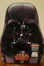 Star Wars Mens Boxer Shorts In Metal Tin  Black Darth Vader 100% Cotton NWT