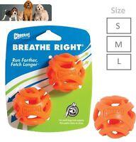 Chuckit Breathe Right Dog Ball Dog Toy Orange Fetch Ball All Sizes Breath Ball