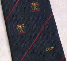 DECCO SILK WEFT CRESTED COMPANY CLUB ASSOCIATION TIE VINTAGE 1970s BY ATKINSONS