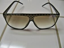 Vintage Laura Biagiotti Black Sunglasses Lb Pattern Oversized Frames with Case