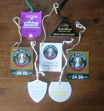 Wimbledon Tennis, Belfry PGA Golf, Aintree, York Races Lapel Tags / Passes