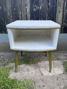 Vintage Retro Kitsch Kraft Bedside Table Mcm Dansette Legs