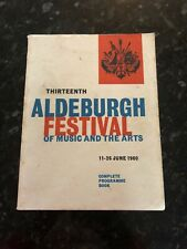 1960 Vintage Aldeburgh Festival of Music and the Arts PROGRAMME