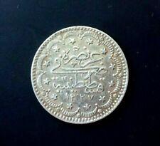 TURKEY OTTOMAN EMPIRE 5 KURUSH MEHMED V 1327(1909-1915) SILVER COIN
