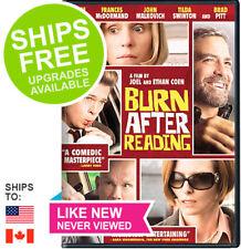 Burn After Reading (DVD, 2008) ✴LIKE NEW✴ Brad Pitt, Frances McDormand, Clooney