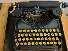Antique Corona Special Typewriter In Blue 1930s