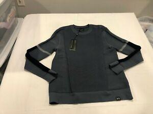 NWT $100.00 Under Armour Mens Intelliknit Phantom Sweater Gray Size LARGE