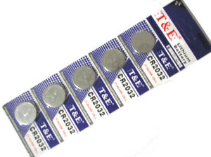 5pcs CR2032 3V Lithium Watch Calculator Batteries Fast Free Shipping