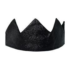 Black Glitter Sparkle Crown ~ KING QUEEN PRINCE PRINCESS GOTHIC COSTUME PARTY