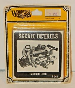 Woodland Scenics #D202 Trackside Junk White Metal NEW