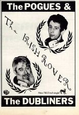 "21/3/87pg7 Single Advert 7x5"" The Pogues & The Dubliners, The Irish Rover"
