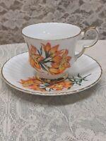 Royal Windsor Bone China England Prairie Lily Teacup & Saucer
