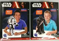 "STAR WARS 3D PAPER CRAFT 12"" POSEABLES SET OF 2 DARTH VADER AND STORMTROOPER NEW"